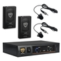 Nady DKW-DUO LT Wireless Lavalier VHF Microphone System; Channel P/R
