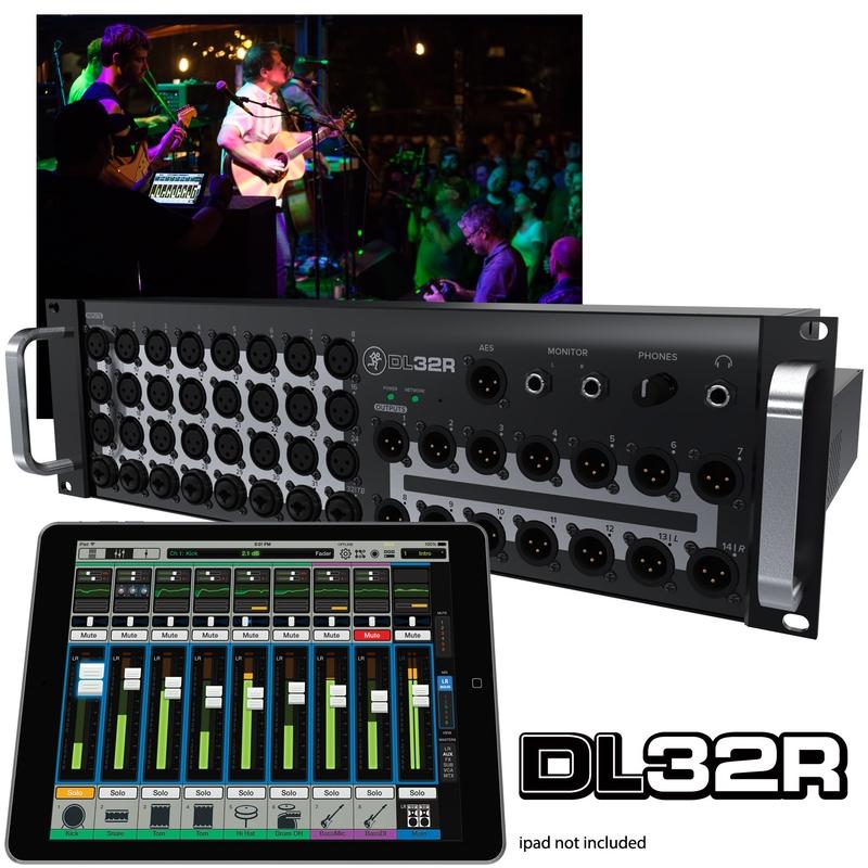 Mackie DL32R 32-Channel Wireless Digital Live Sound Mixer with iPad Control