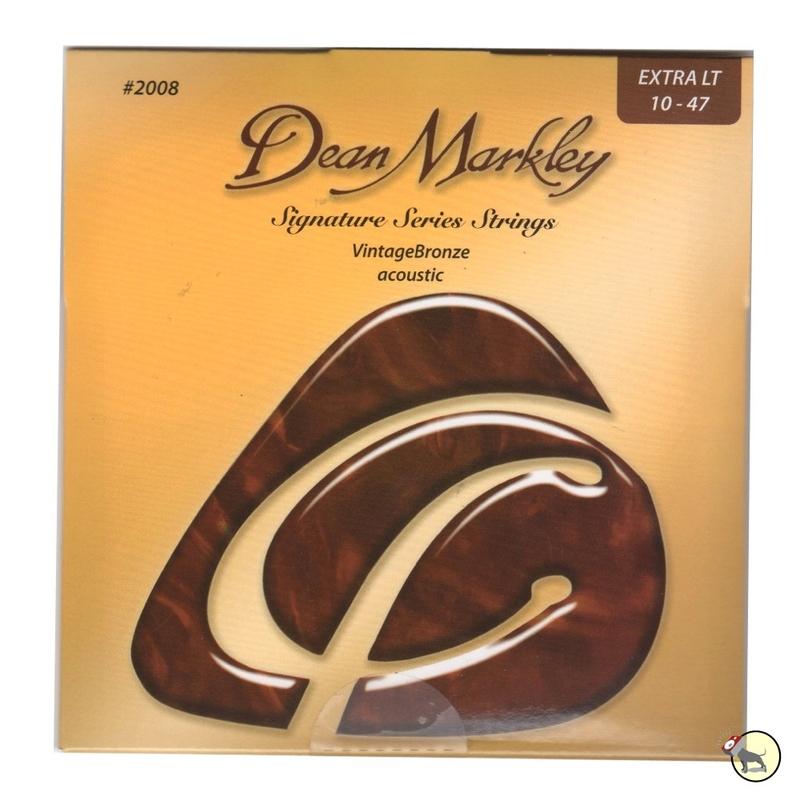 Dean Markley 2008 VintageBronze Extra Light Acoustic Guitar Strings (10-47)