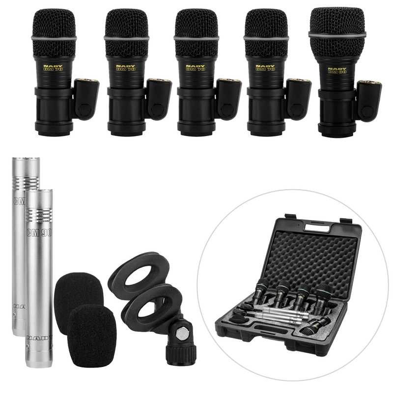 Nady DMK-7C Seven Piece Drum Microphone Kit with CM-90 Microphones