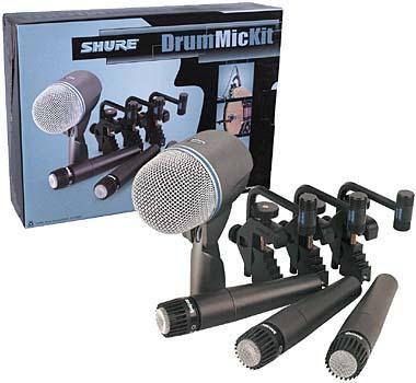 Shure DMK57-52 Drum Mic Kit (3 SM-57, 1 Beta 52A, 3 Mounts)