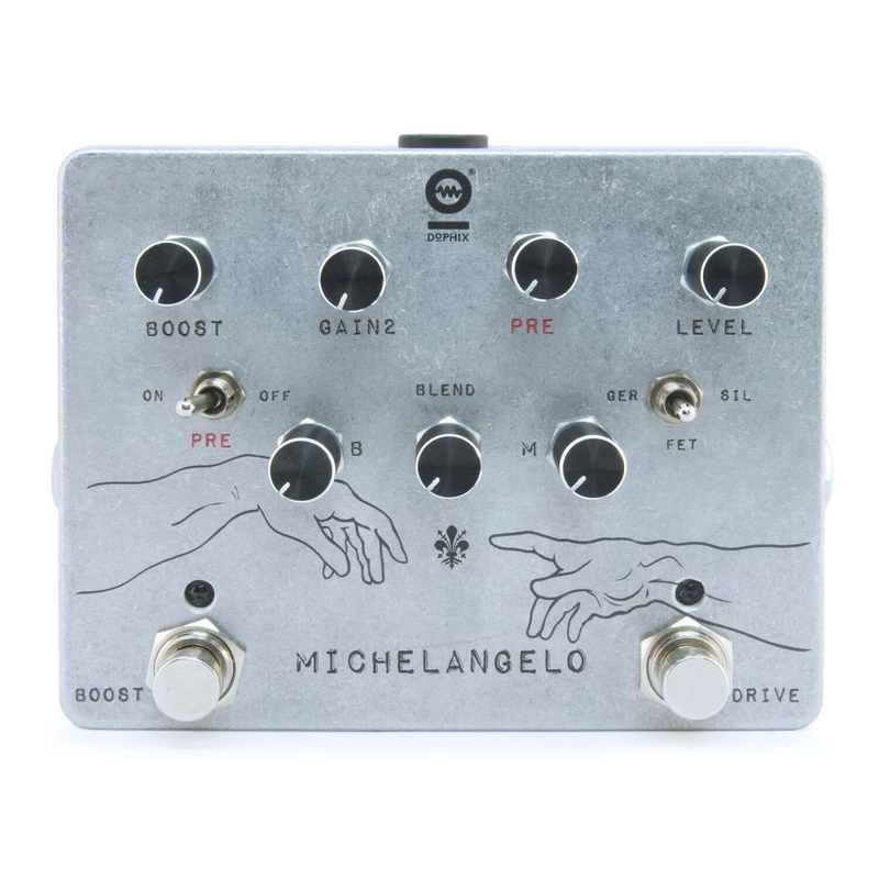 Dophix DX-08 Michaelangelo Overdrive Plus True Bypass Guitar Effects Pedal