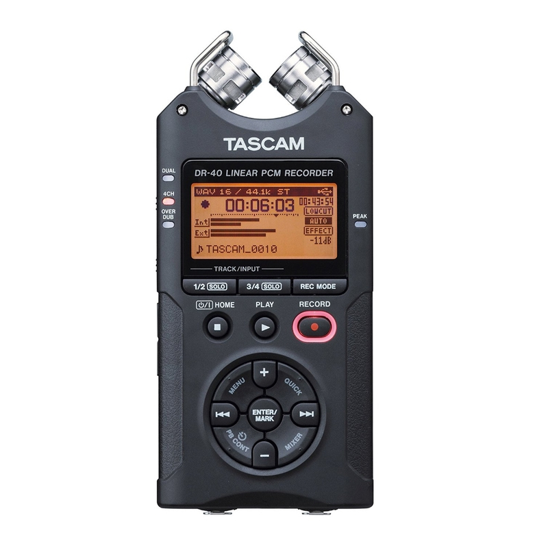 Tascam DR-40 Handheld PCM Portable Digital Recorder