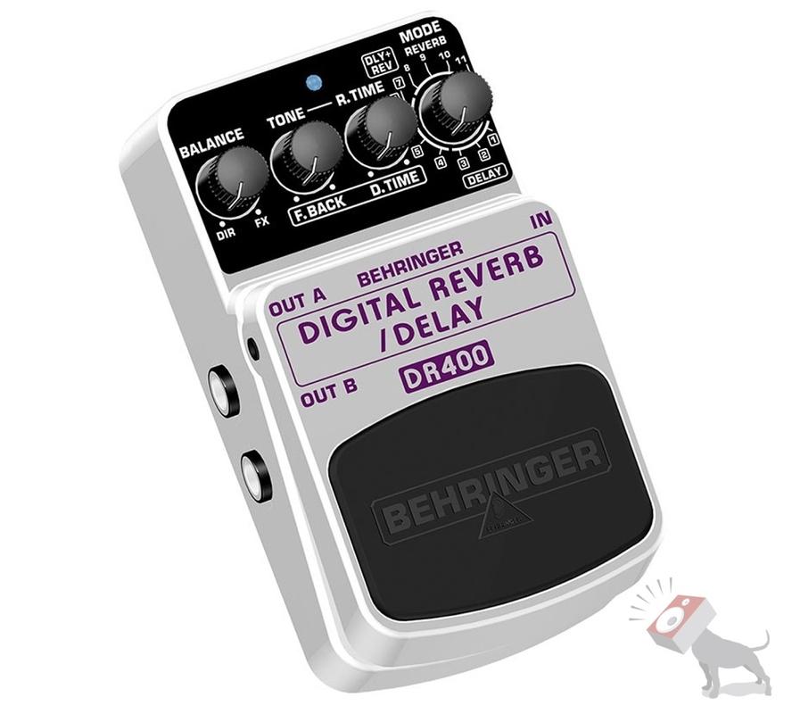 Behringer DR400 Digital Stereo Reverb/Delay Effects Pedal
