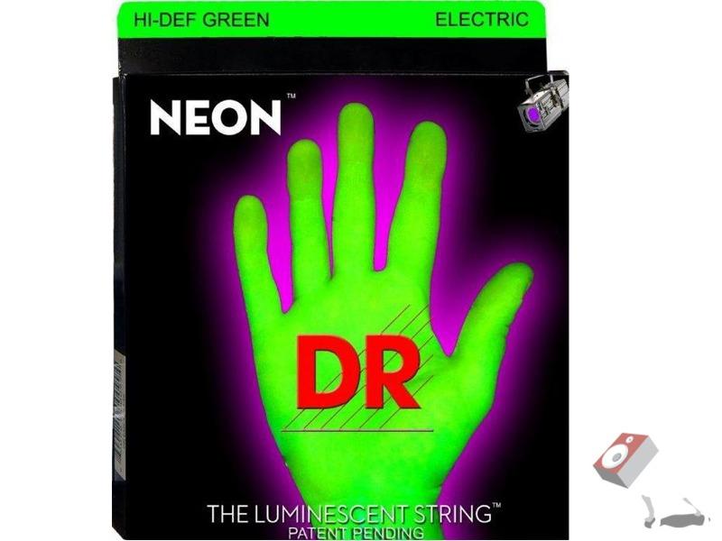 DR Strings NGE7-9 K3 Neon Hi-Def Green Coated 7-String Electric Guitar Strings (9-52)