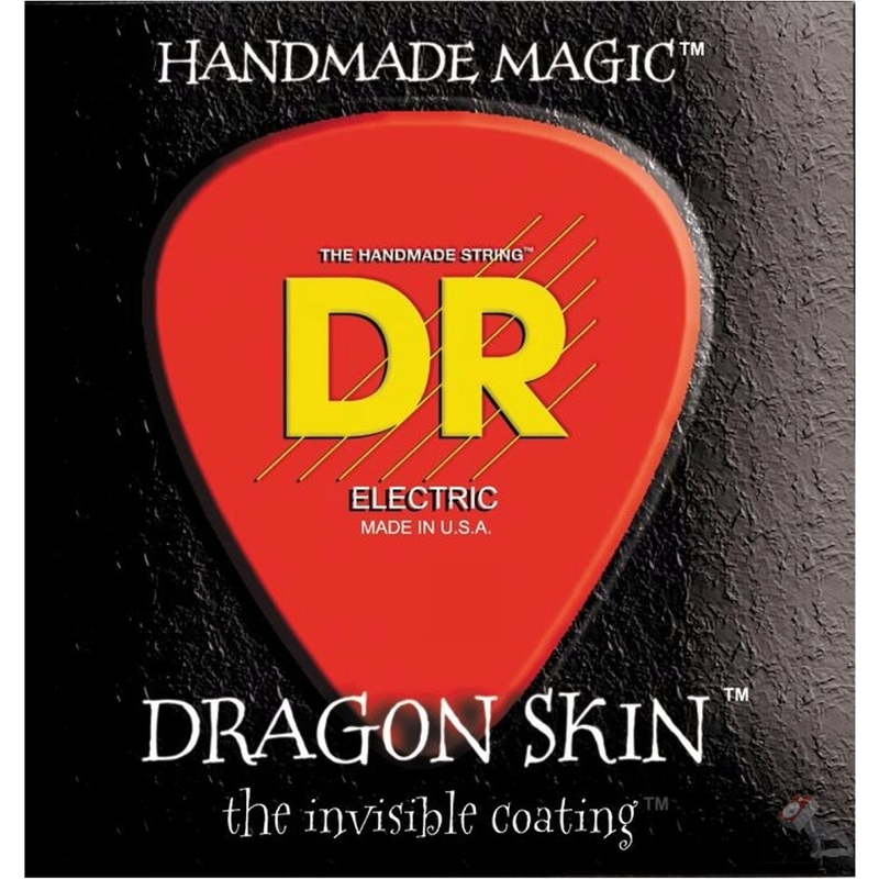 DR DSE-11 Dragon Skin Heavy Coated Electric Guitar Strings (11-50)