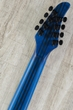 Mayones Regius 8 MM QM Misha Mansoor Djentlemen 8-String Baritone Electric Guitar with Hard Case - Trans Natural Fade Blue Burst