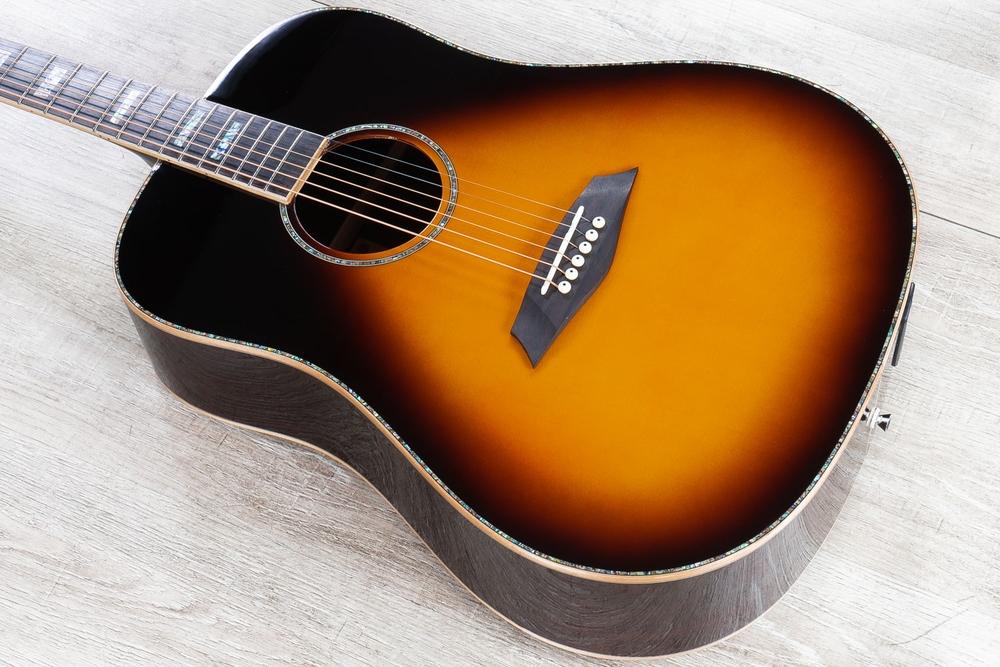 Sire R7 DS VS Zebra 7 SIB Acoustic Electric Guitar, Vintage Sunburst