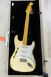 Fender Eric Johnson Signature Thinline Stratocaster Semi-Hollow Electric Guitar, Maple Fingerboard, Hard Case - Vintage White