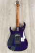 Ernie Ball Music Man BFR John Petrucci JP15 Guitar, Purple Sunset, Spalted Maple Top