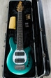 Ernie Ball Music Man BFR Bongo 6 HH Limited Edition Bass, Grabber Green, Roasted Flame Maple Neck, Rosewood Fretboard