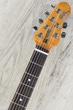 Ernie Ball Music Man StingRay RS Electric Guitar, Figured Roasted Maple Neck, Rosewood Fingerboard, Hard Case - Ivory White