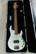 Ernie Ball Music Man StingRay 5 Special 5-String H Electric Bass, Roasted Maple Fingerboard - Ivory White