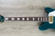 Ernie Ball Music Man BFR Valentine Electric Guitar, Roasted Figured Maple Neck, Gold Hardware, Hard Case - Pine Green (1)