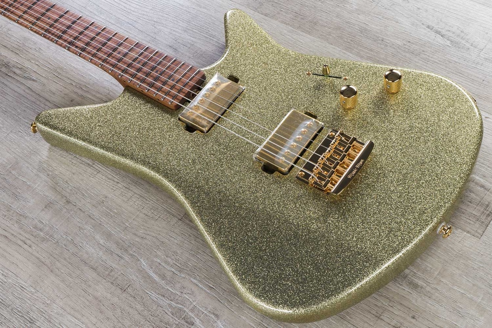 Ernie Ball Music Man BFR Albert Lee Electric Guitar, Figured Roasted Maple Fingerboard, Electric Shimmer (G87815)