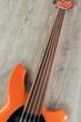 Ernie Ball Music Man Bongo 5 - 5-String HS Electric Bass, Unlined Fretless, Hard Case - Tangerine Pearl