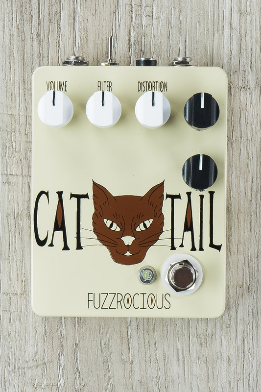 Fuzzrocious Cat Tail Low/High Gain Distortion/Overdrive Guitar Effects Pedal - Beige