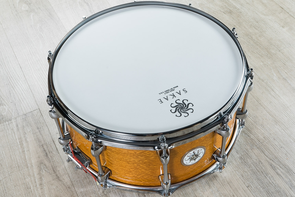 Sakae Silky Oak and Beech 14in X 6.5in Snare Drum 2017 Natural