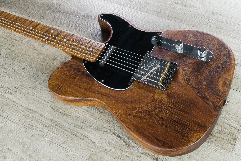 G L Usa Custom Shop Asat Classic Guitar Walnut Body Roasted Flame Maple Neck And Fretboard Mfd
