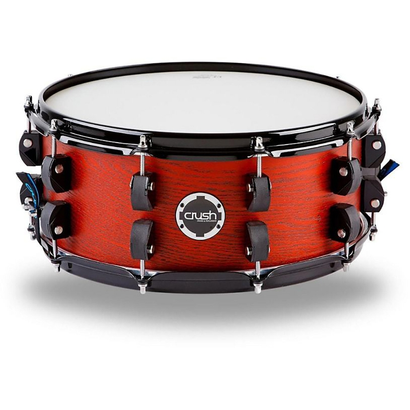 "Crush C2A14X6206 Chameleon Ash Snare Drum - Trans Satin Dark Red (6"" x 14"")"
