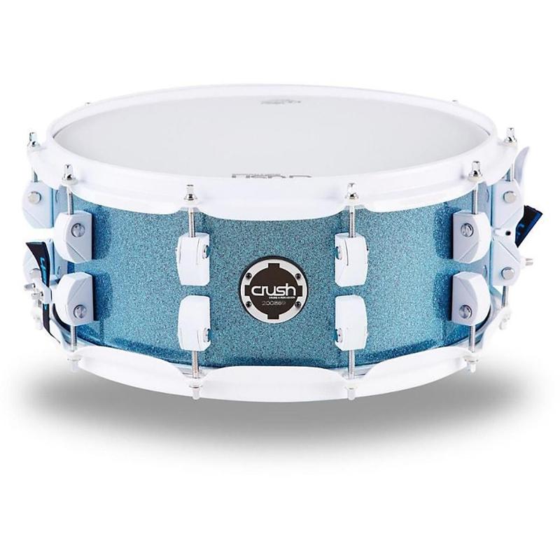"Crush CCB14X7914 Chameleon Complete Snare Drum - Light Blue Sparkle (7"" x 14"")"