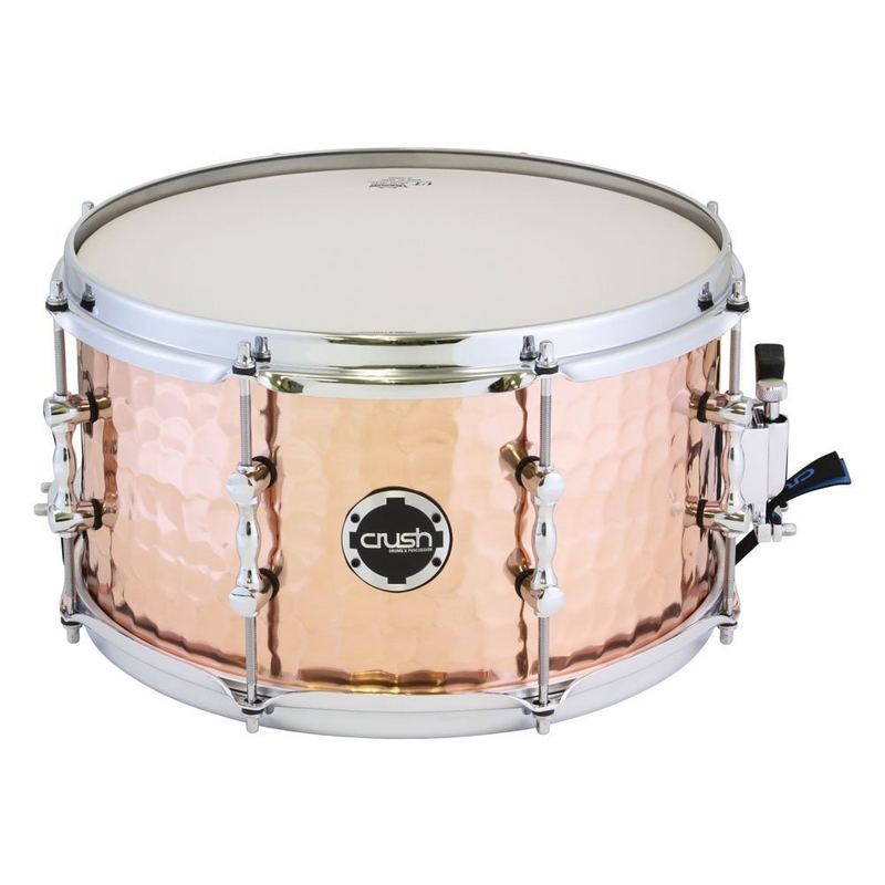 """Crush HHS13X7C Hand Hammered Snare Drum - Copper (7"""" x 13"""")"""