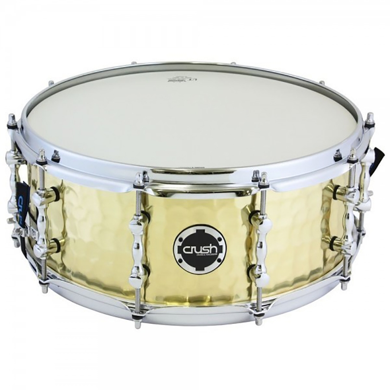 "Crush HHS14X55B Hand Hammered Snare Drum - Brass (5.5"" x 14"")"