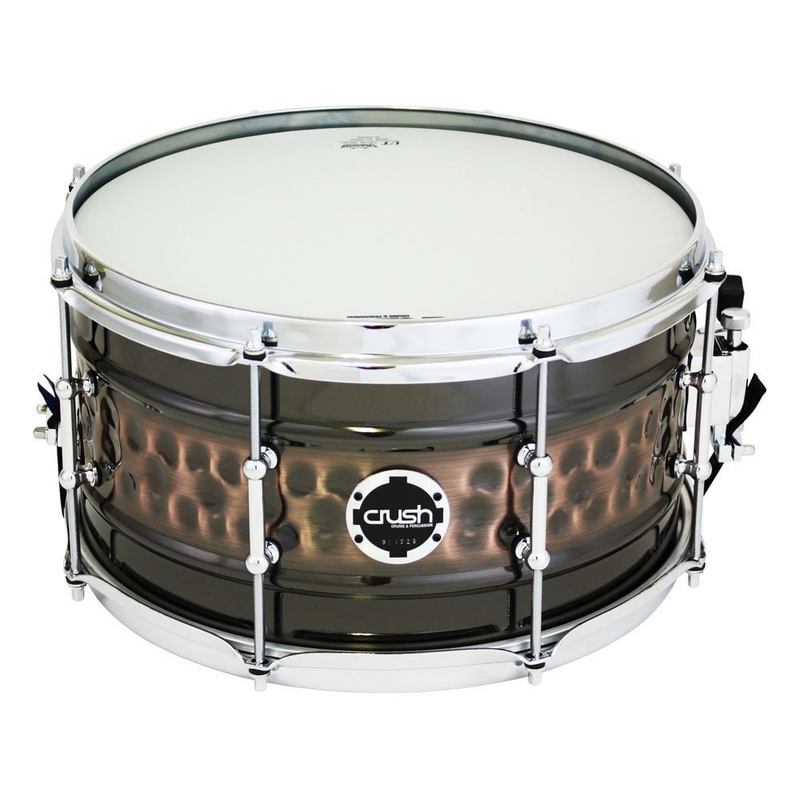 "Crush RMH14X7NS Hybrid Hand Hammered and Rolled Steel Snare Drum - Black Nickel (7"" x 14"")"