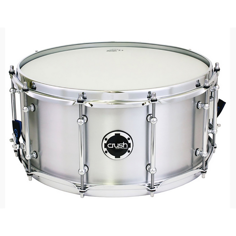 "Crush RMS14X65A Rolled Metal Aluminum Snare Drum - Natural Finish (6.5"" x 14"")"