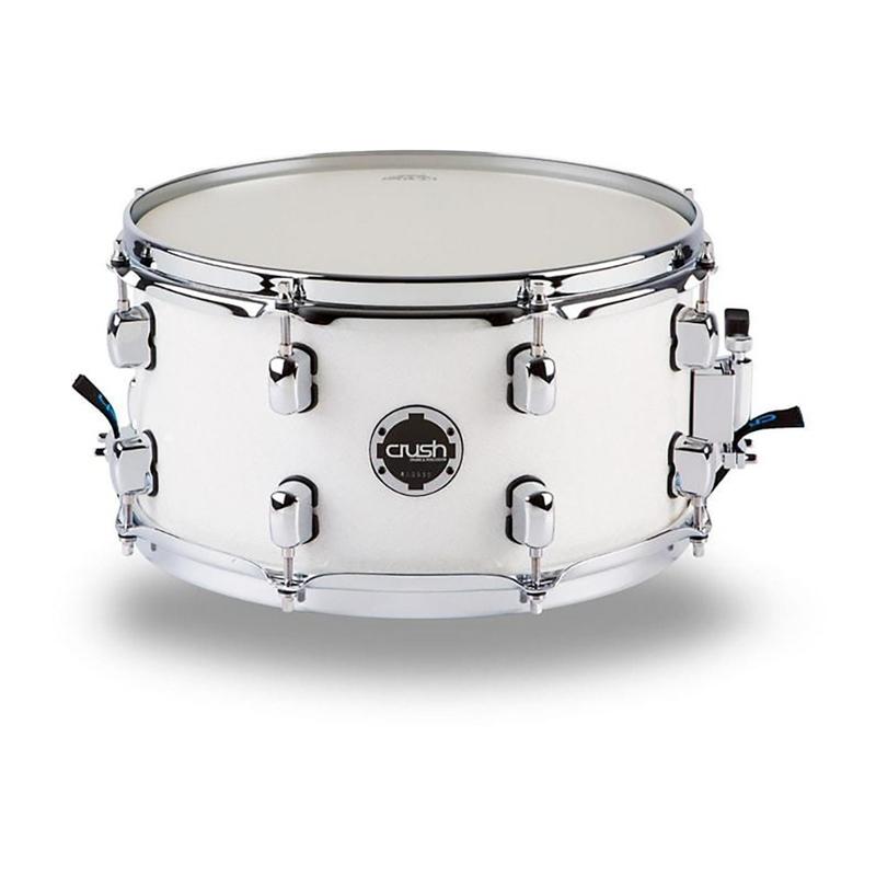 """Crush S3MS14X7611 Sublime E3 Maple Snare Drum - White Multi Sparkle (7"""" x 14"""")"""