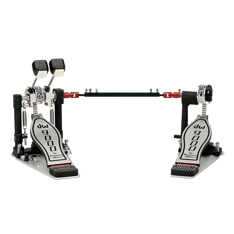 DW Drum Workshop DWCP9002PBL 9000 Series Double Kick Bass Drum Pedal, Lefty, with Bag