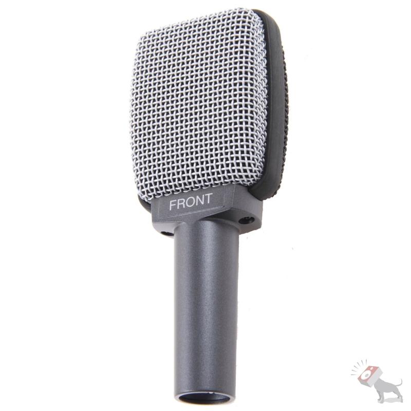 Sennheiser e609 Silver Dynamic Super-Cardioid Microphone w/ Mic Clip & Pouch