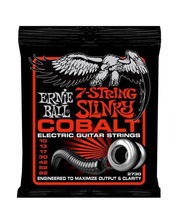 3 PACK! Ernie Ball 2730 Cobalt 7-String Slinky Top Electric Guitar Strings 10-62