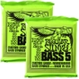 2-Pack Ernie Ball 2836 Regular Slinky 5-String Nickel Wound Electric Bass Strings (45-130)