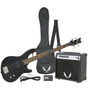 Dean Guitars Edge 09 Bass Guitar Pack with Amp, Gig Bag, Tuner, Cable, Strap, and Picks (Classic Black)