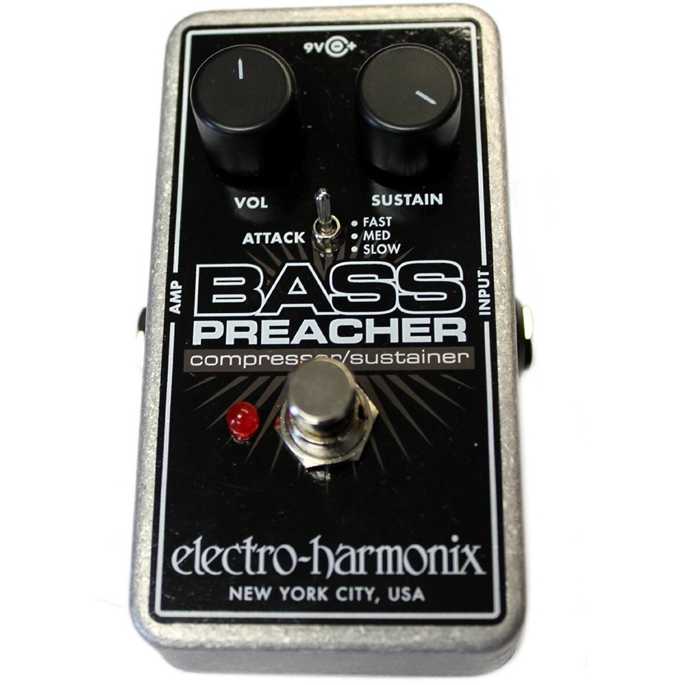 pitbull audio electro harmonix bass preacher compressor sustainer guitar effects pedal. Black Bedroom Furniture Sets. Home Design Ideas