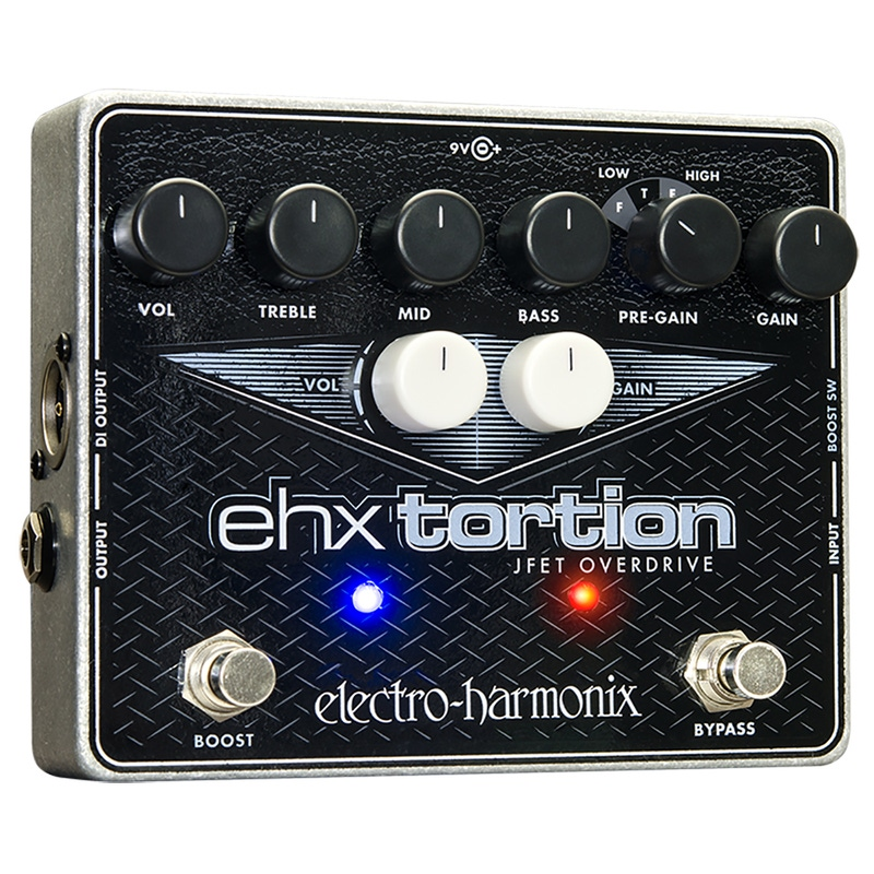 Electro-Harmonix EHX Tortion JFET Overdrive Preamp Effects Pedal