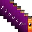 Elixir Nanoweb Phosphor Bronze Medium Acoustic Guitar Strings 16102 6 Sets
