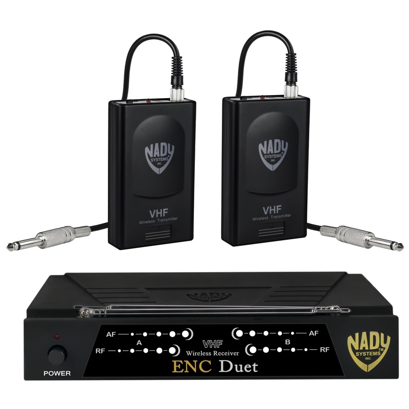 Nady ENC DUET Wireless Dual Channel Instrument / Guitar System; Band F/E