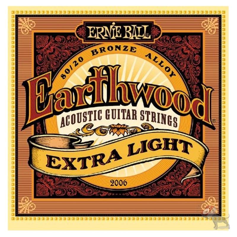 Ernie Ball 2006 Earthwood 80/20 Bronze Extra Light Acoustic Guitar Strings (10-50)
