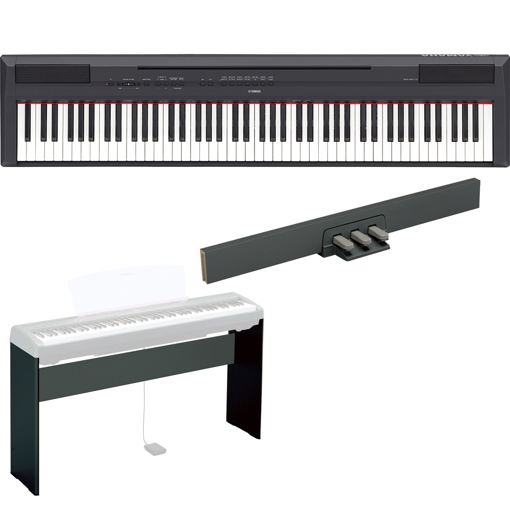 Yamaha P115 88 Key Digital Stage Piano Keyboard W L85 Stand And Lp5a Pedal Unit