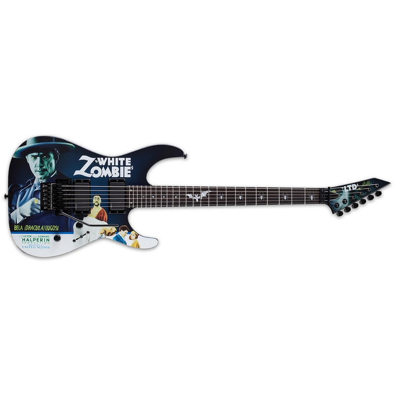ESP LTD Kirk Hammett Signature Electric Guitar with Hard Case - White Zombie Graphic (B-STOCK)