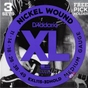 D'Addario EXL115-3DHOLD Guitar Strings 3 sets with FREE Pick Holder