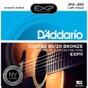 D'Addario EXP11 Coated 80/20 Bronze Acoustic Guitar Strings, Light (12-53)