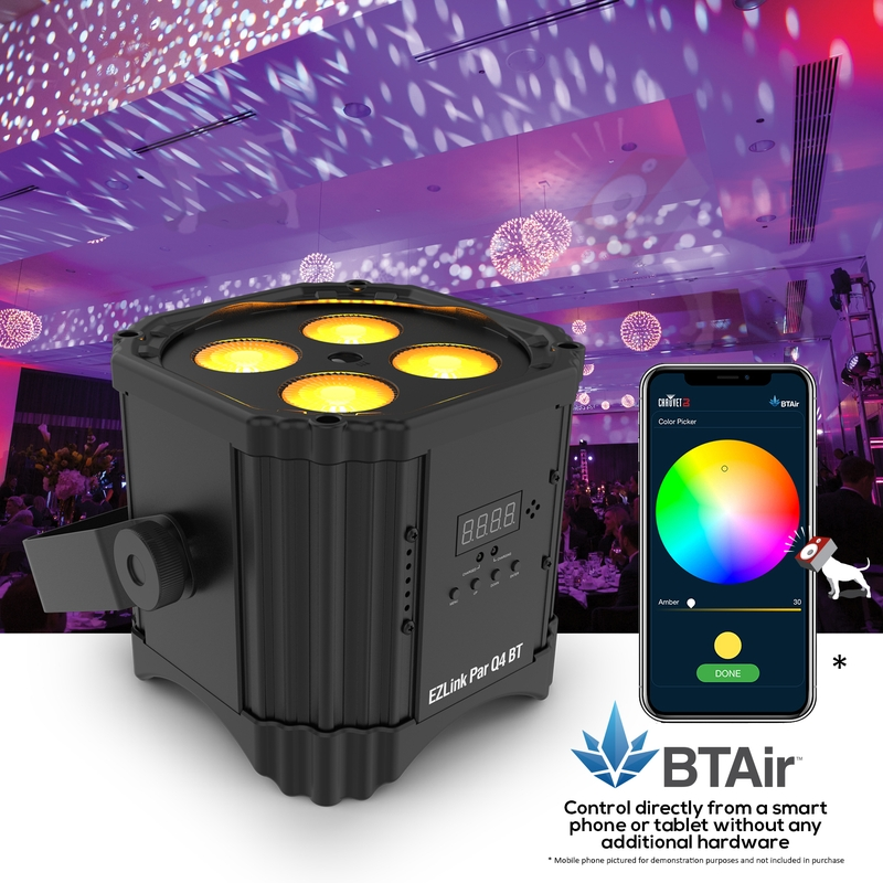 Chauvet DJ EZlink Par Q4 BT RGBA Wireless Bluetooth Par