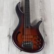 F-Bass AC4 Alain Caron Signature 4-String Fretless Bass, Antique Brown Burst