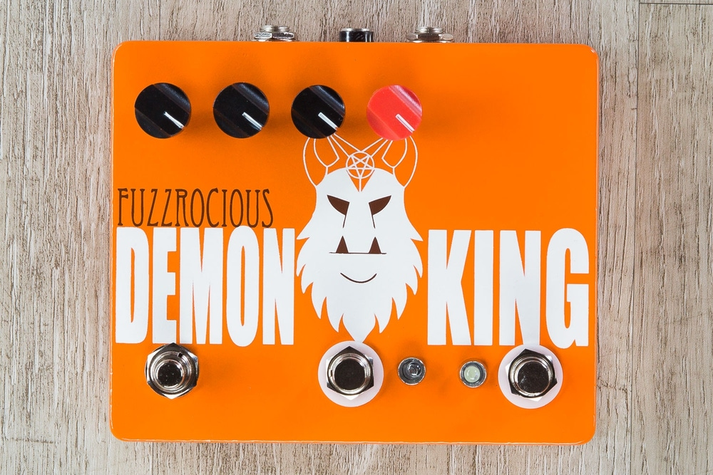 Fuzzrocious Pedals Demon King Overdrive/Distortion Guitar Effects Pedal, Momentary Feedback Mod - Orange