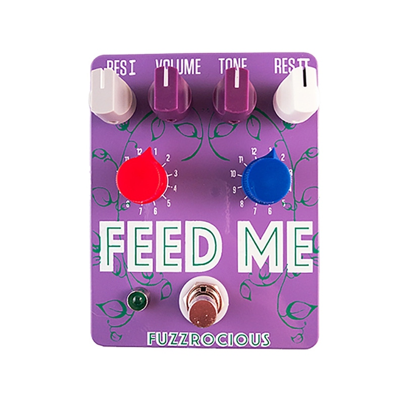 Fuzzrocious Pedals Feed Me V2 EQ/Preamp/Tone Shaper Guitar Effects Pedal - Purple