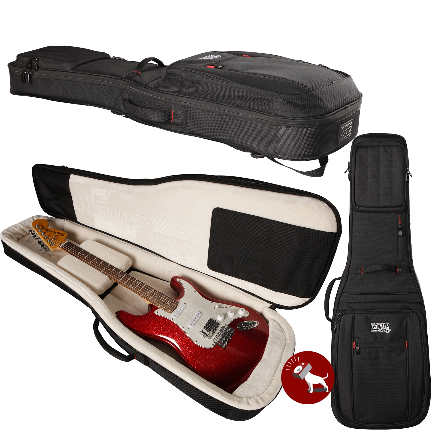 G Electric Gator Cases G Pg Electric Progo Series Guitar Bag With Internal