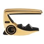 G7TH Performance 3 Guitar Capo for Steel String Guitars, 18kt Gold Plated